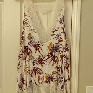 Free People Lace floral tank